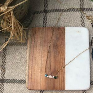 Nadri Dainty Stone Necklace